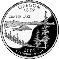 2005 - D Oregon - Roll of 40 State Quarters