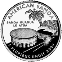 2009 - D American Samoa Territory Quarter Single Coin