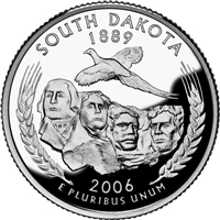 2006 - D South Dakota - Roll of 40 State Quarters