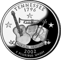 2002 - D Tennessee - Roll of 40 State Quarters