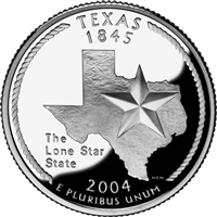 2004 - D Texas - Roll of 40 State Quarters