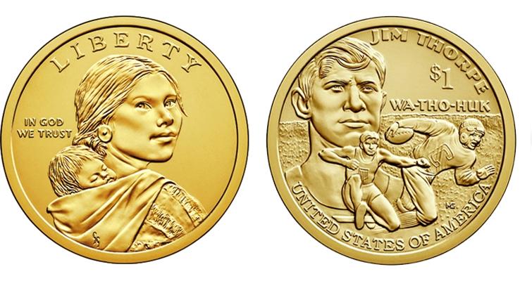 2018 P D Native American Sacagawea Dollar Set