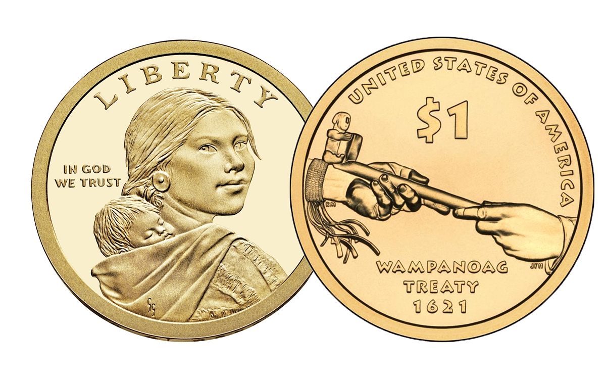 """2003 P Sacagawea Dollar US Mint Coin in /""""Brilliant Uncirculated/"""" Condition"""