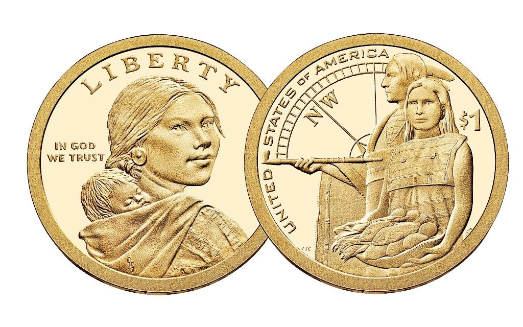 2014 P Sacagawea Dollar 25 Coin Roll