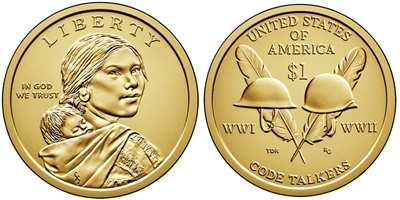 2016 - D Sacagawea Dollar - 25 Coin Roll
