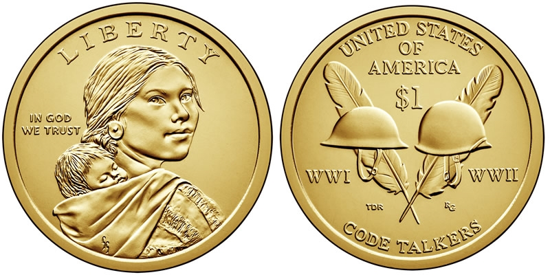 2014-D ROLL NATIVE AMERICAN SACAGAWEA GOLDEN DOLLAR UNC MINT WRAPPED ROLL