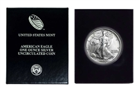 1986 U.S. Silver Eagle in Plastic Air Tite and Blue Gift Box - Gem Brilliant Uncirculated