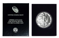 1987 U.S. Silver Eagle in Plastic Air Tite and Blue Gift Box - Gem Brilliant Uncirculated