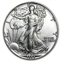 1988 U.S. Silver Eagle - Gem Brilliant Uncirculated with Certificate of Authenticity