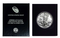 1988 U.S. Silver Eagle in Plastic Air Tite and Blue Gift Box - Gem Brilliant Uncirculated