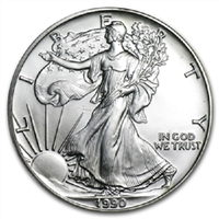 1990 U.S. Silver Eagle - Gem Brilliant Uncirculated with Certificate of Authenticity