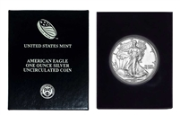 1991 U.S. Silver Eagle in Plastic Air Tite and Blue Gift Box - Gem Brilliant Uncirculated
