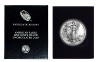 1992 U.S. Silver Eagle in Plastic Air Tite and Blue Gift Box - Gem Brilliant Uncirculated