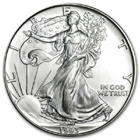 1993 U.S. Silver Eagle - Gem Brilliant Uncirculated with Certificate of Authenticity