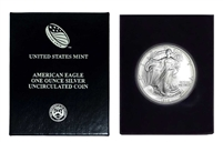 1995 U.S. Silver Eagle in Plastic Air Tite and Blue Gift Box - Gem Brilliant Uncirculated