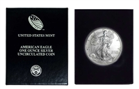 1996 U.S. Silver Eagle in Plastic Air Tite and Blue Gift Box - Gem Brilliant Uncirculated