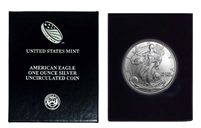 1999 U.S. Silver Eagle in Plastic Air Tite and Blue Gift Box - Gem Brilliant Uncirculated