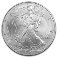 2004 U.S. Silver Eagle - Gem Brilliant Uncirculated with Certificate of Authenticity