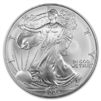 2005 U.S. Silver Eagle - Gem Brilliant Uncirculated with Certificate of Authenticity