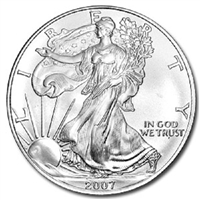 2007 U.S. Silver Eagle - Gem Brilliant Uncirculated with Certificate of Authenticity
