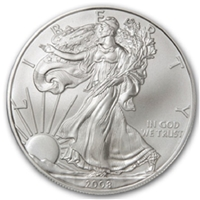 2008 U.S. Silver Eagle - Gem Brilliant Uncirculated with Certificate of Authenticity