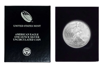 2009 U.S. Silver Eagle in Plastic Air Tite and Blue Gift Box - Gem Brilliant Uncirculated