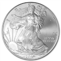 2010 U.S. Silver Eagle - Gem Brilliant Uncirculated with Certificate of Authenticity