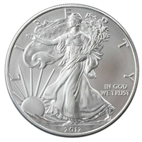 2012 U.S. Silver Eagle - Gem Brilliant Uncirculated with Certificate of Authenticity