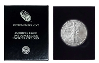 2012 U.S. Silver Eagle in Plastic Air Tite and Blue Gift Box - Gem Brilliant Uncirculated
