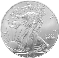 2013 U.S. Silver Eagle - Gem Brilliant Uncirculated with Certificate of Authenticity