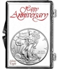 2013 U.S. Silver Eagle in Happy Anniversary Holder - Gem Brilliant Uncirculated