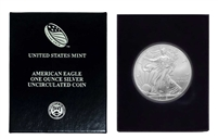 2013 U.S. Silver Eagle in Plastic Air Tite and Blue Gift Box - Gem Brilliant Uncirculated