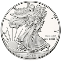2014 U.S. Silver Eagle - Gem Brilliant Uncirculated with Certificate of Authenticity