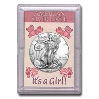 "2018 American 1 oz Silver Eagle in ""It's a Girl"" Holder"