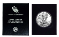 2019 U.S. Silver Eagle in Plastic Air Tite and Blue Gift Box - Gem Brilliant Uncirculated