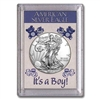 "2019 American 1 oz Silver Eagle in ""It's a Boy"" Holder"