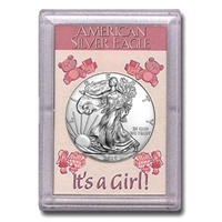 "2019 American 1 oz Silver Eagle in ""It's a Girl"" Holder"