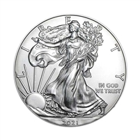2021 U.S. Silver Eagle - Gem Brilliant Uncirculated with our Certificate of Authenticity
