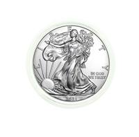 2021 U.S. Silver Eagle - Gem Brilliant Uncirculated in Plastic Air-Tite Holder with Certificate of Authenticity