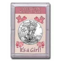 "2020 American 1 oz Silver Eagle in ""It's a Girl"" Holder"