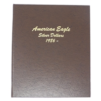 1986 - 2016 Silver Eagle 31 Coin Set in Dansco Deluxe American Eagle Silver Dollar Album #7181