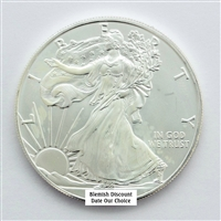 Blemished Silver Eagle - Date our Choice - Uncirculated