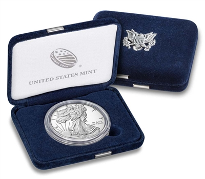 2017 W Proof American Silver Eagle with Box/ CoA