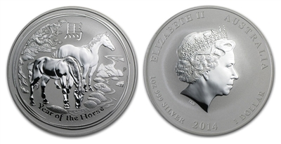 2014 Australian Year of the Horse One Ounce Silver Coin
