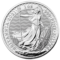 2021 1 oz British Silver Britannia Coin Brilliant Uncirculated