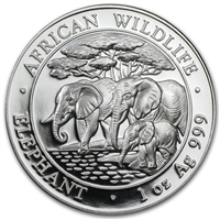 2013 Somalian Elephant One Ounce Silver Coin