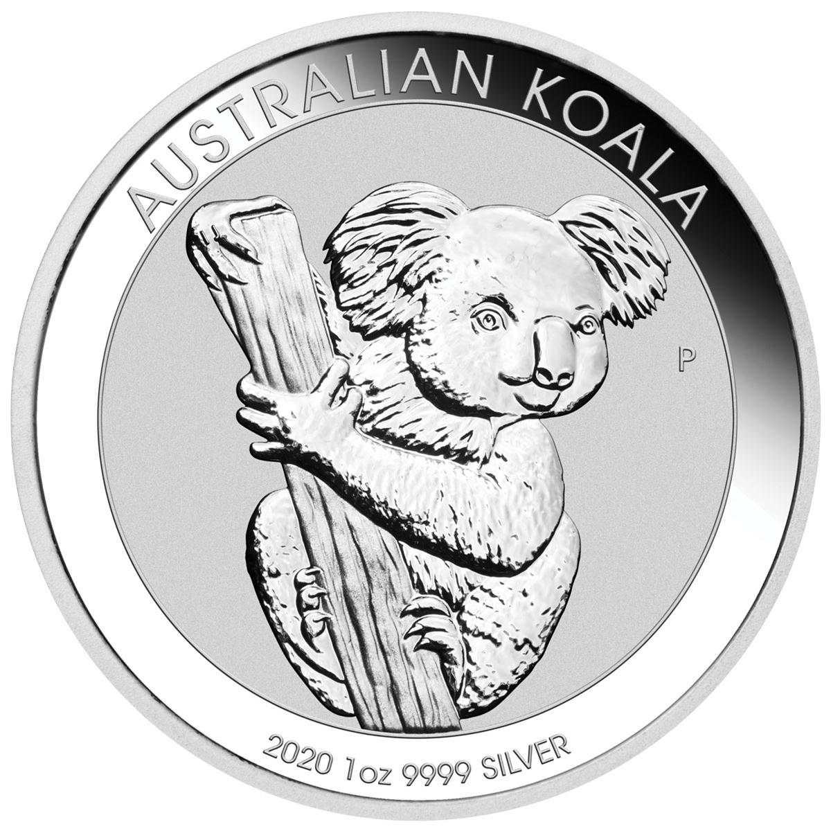 2020 Australian Koala .9999 Silver Dollar Coin