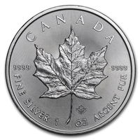 2021 Canadian Maple Leaf 1 Ounce Silver Coin