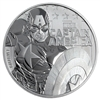 2019 1 oz Tuvalu Captain America Marvel Series Silver Coin
