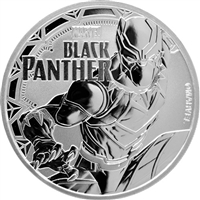 2018 1 oz Tuvalu Black Panther Marvel Series Silver Coin